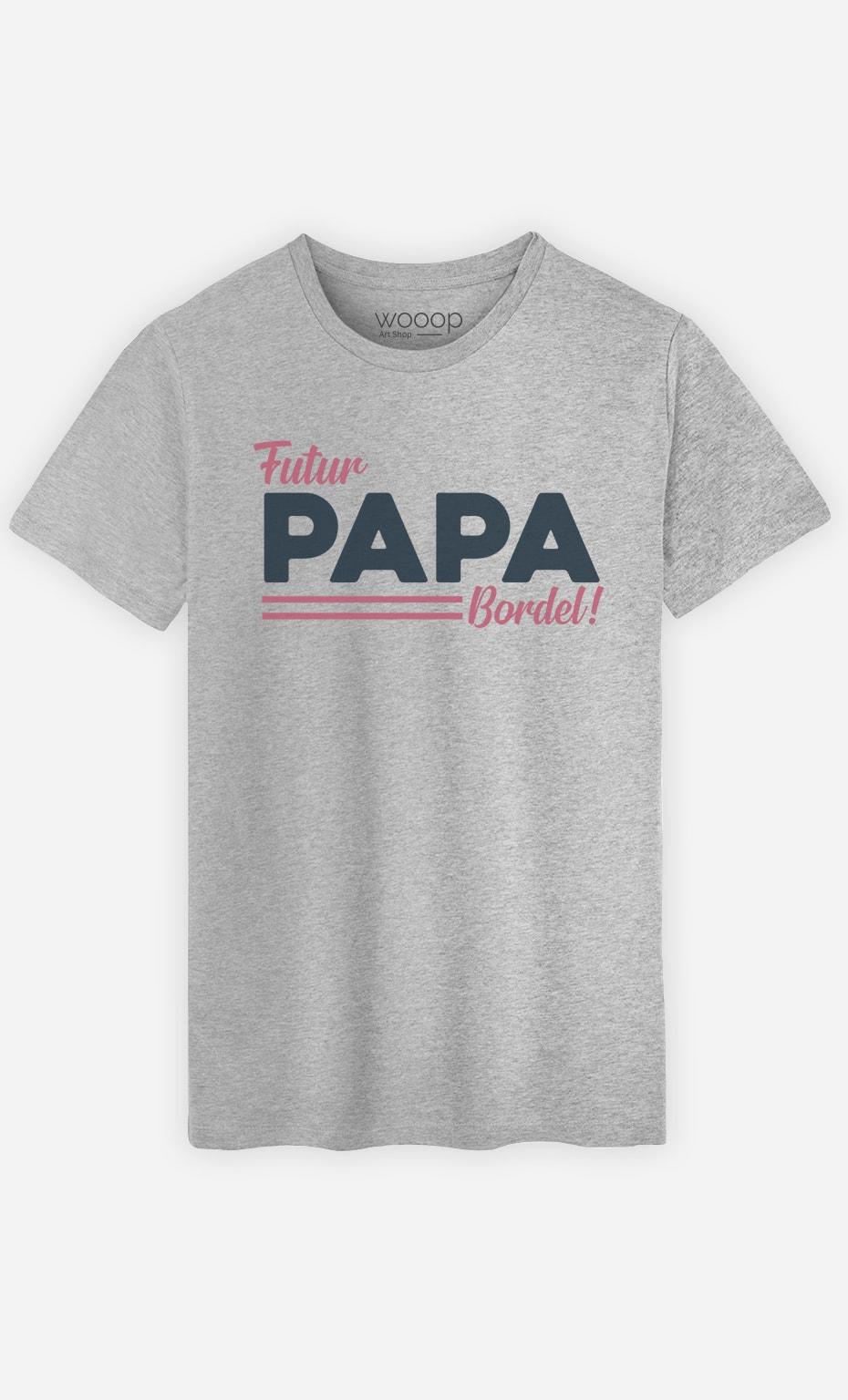 T-Shirt Gris Homme Futur papa