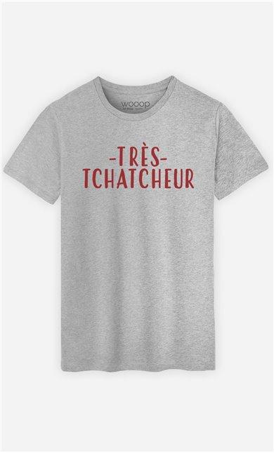 T-Shirt Gris Homme Très tchatcheur