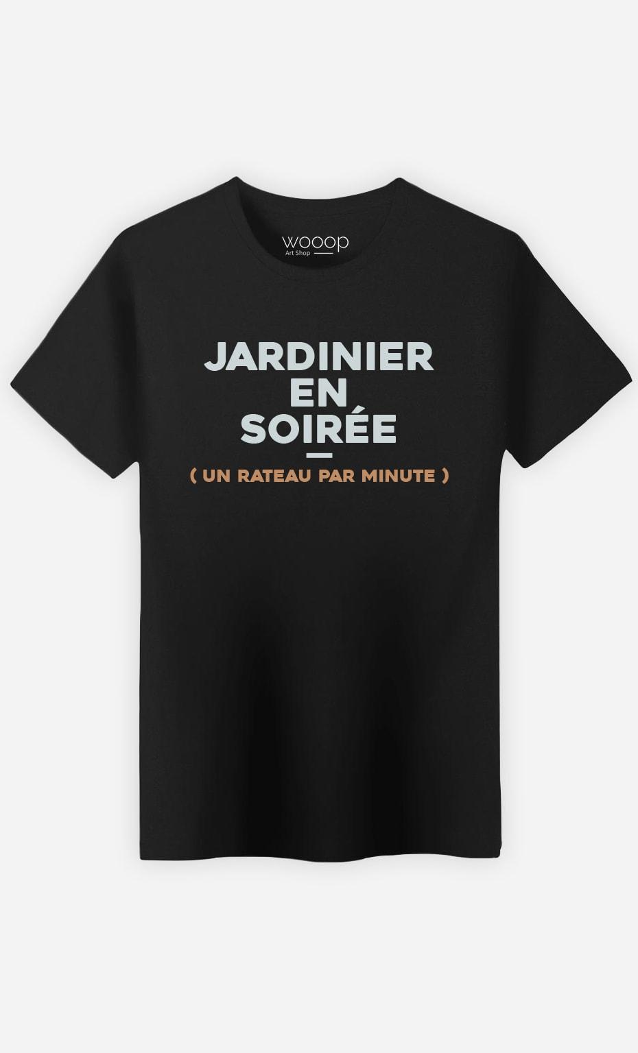T-Shirt Noir Homme Jardinier en soirée