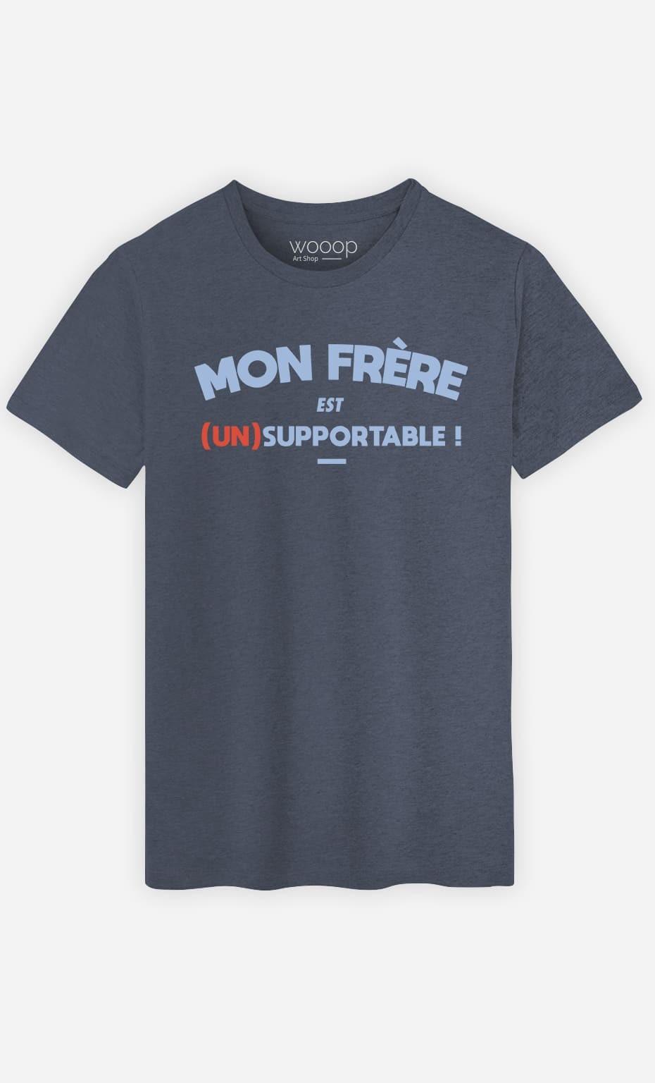 T-Shirt Homme Mon Frère Est (Un)Supportable