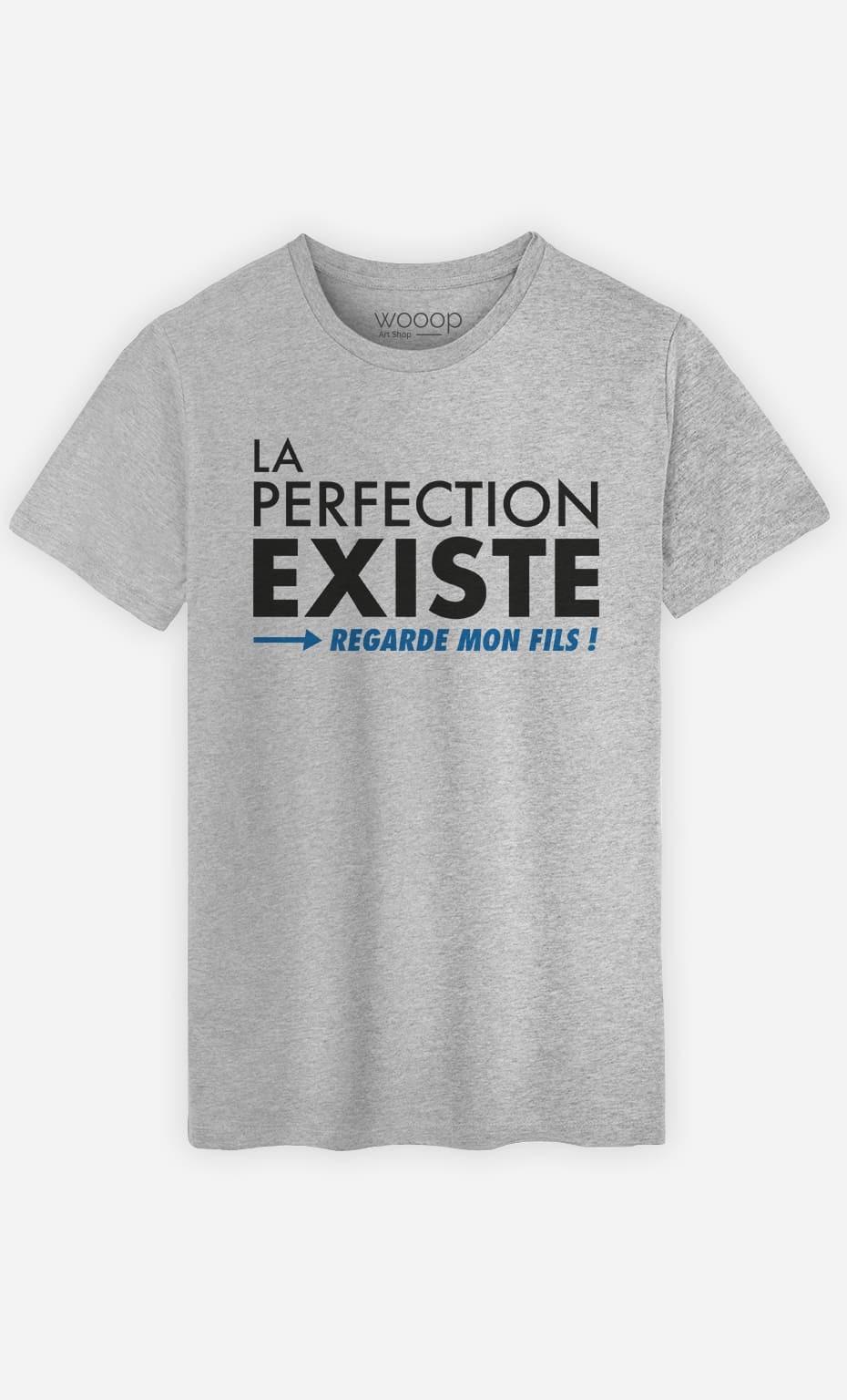 T-Shirt Homme La Perfection Existe (Regarde Mon Fils)