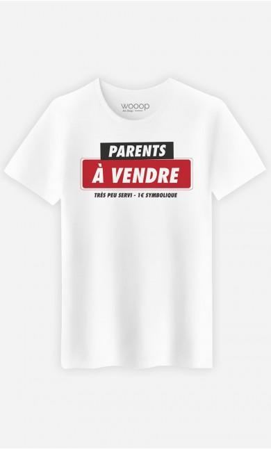 T-Shirt Homme Parents à Vendre