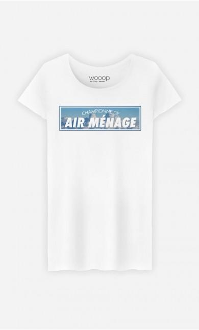 T-Shirt Femme Championne de Air Ménage