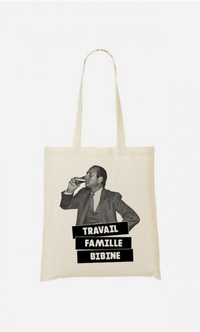 Tote Bag Travail Famille Bibine