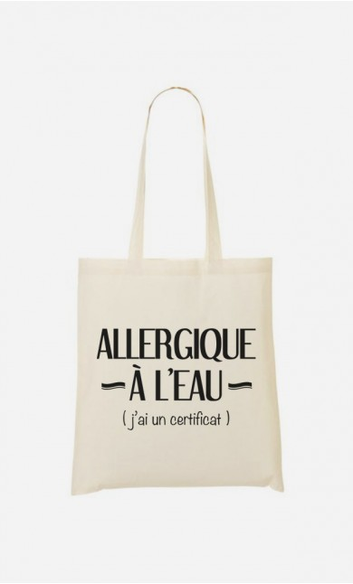 Tote Bag Allergique à l'eau