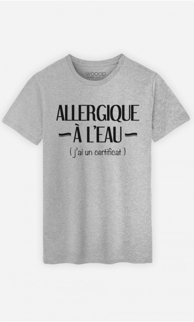 T-Shirt Homme Allergique à l'eau