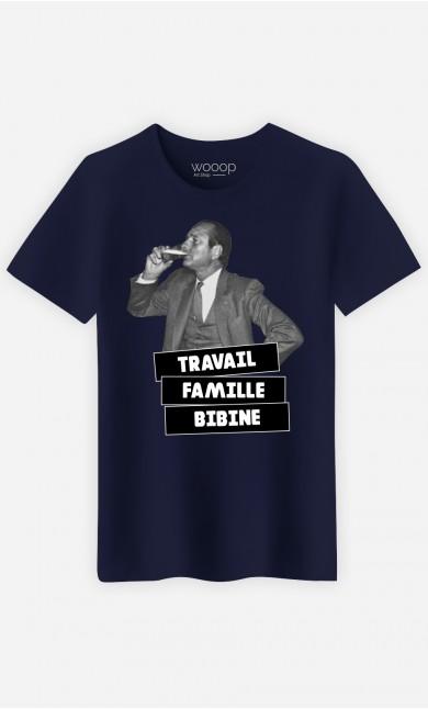 T-Shirt Homme Travail Famille Bibine