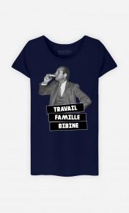 T-Shirt Femme Travail Famille Bibine