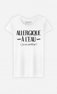 T-Shirt Femme Allergique à l'eau