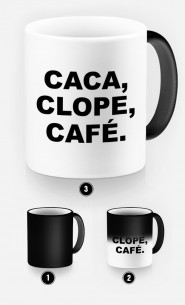 Mug Magique Café, Clope, Caca