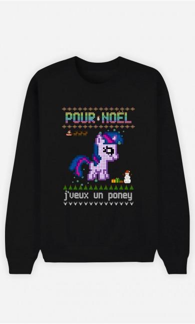 Sweat Femme Pour Noël, j'veux un poney