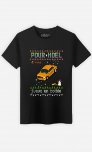 T-Shirt Homme Pour Noël, j'veux un bolide