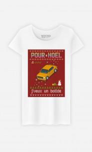 T-Shirt Femme Pour Noël, j'veux un bolide