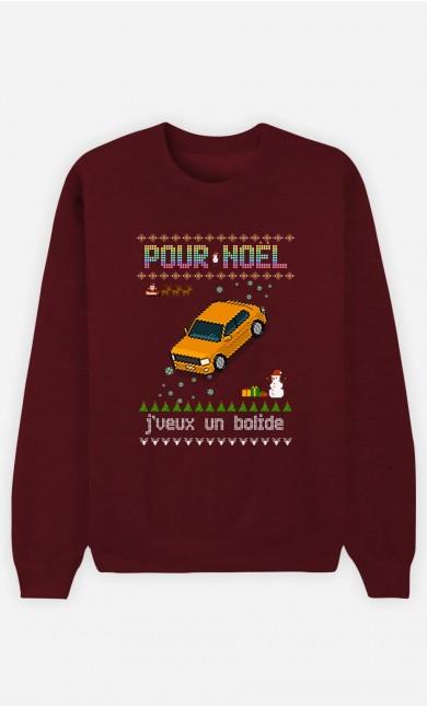 Sweat Homme Pour Noël, j'veux un bolide