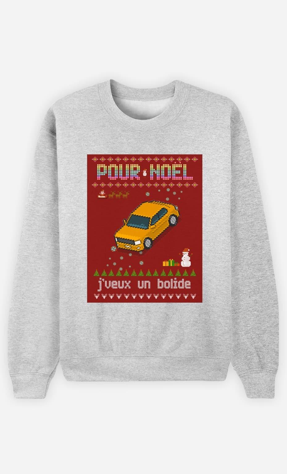 Sweat Femme Pour Noël, j'veux un bolide