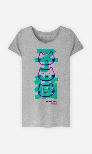 T-Shirt Femme Kittens Gang Wooop