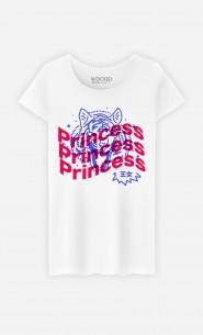 T-Shirt Femme Princess - Bleu