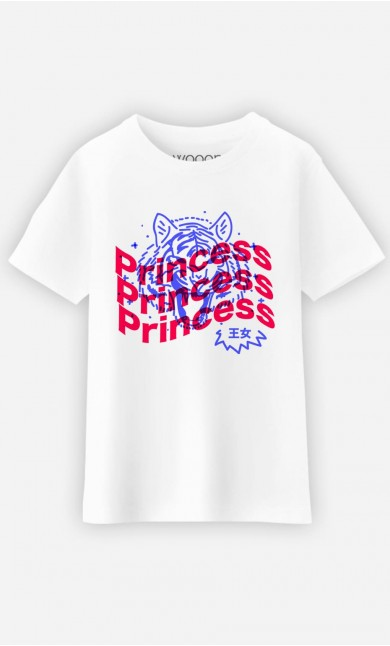 T-Shirt Enfant Princess - Bleu