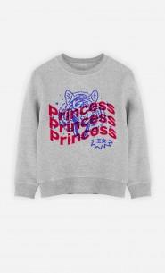 Sweat Enfant Princess - Bleu