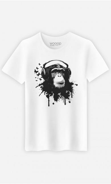 T-shirt blanc homme Creative Monkey