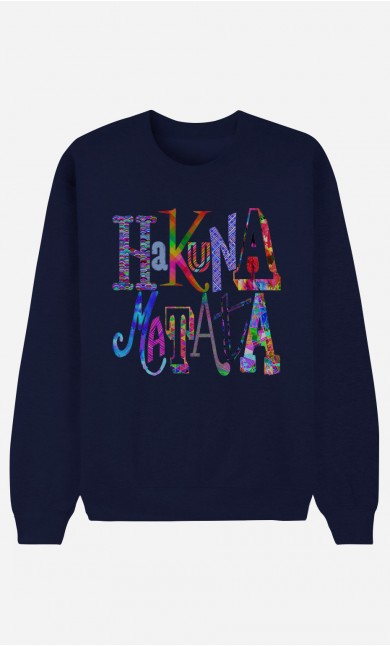 Sweat bleu Hakuna Matata Color