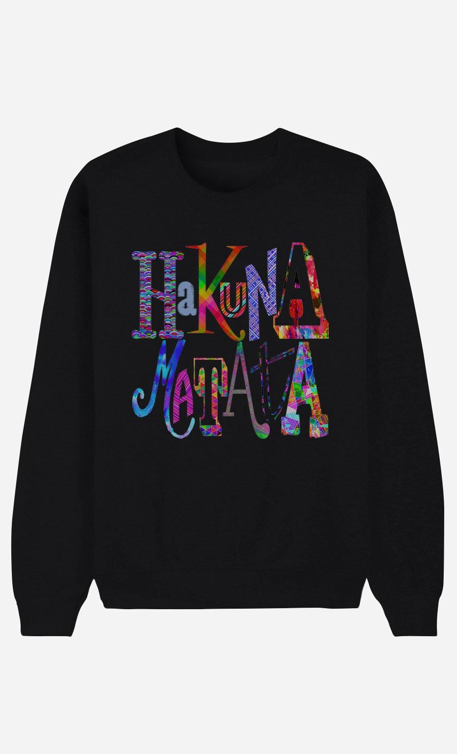 Sweat noir Hakuna Matata Color