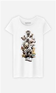 T-Shirt Blanc Femme Zoo escape