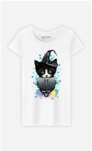 T-Shirt Blanc Femme The magician