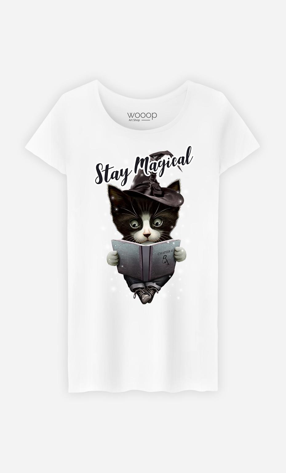 T-Shirt Blanc Femme Stay magical