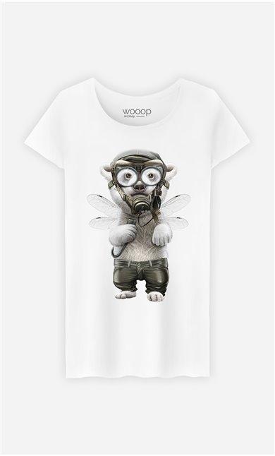 T-Shirt Blanc Femme Pilot polar
