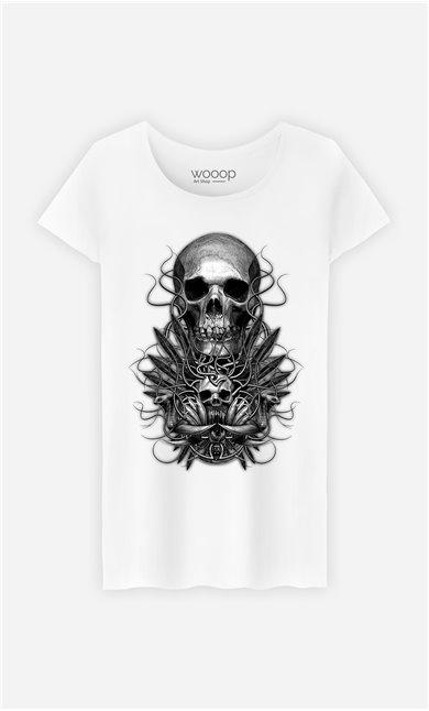 T-Shirt Blanc Femme Beast