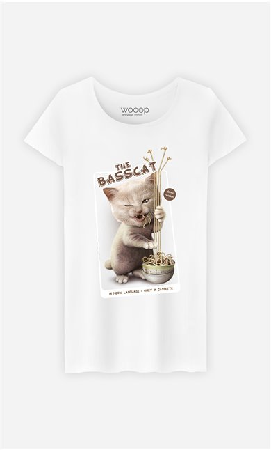 T-Shirt Blanc Femme Basscat