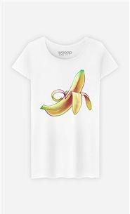 T-Shirt Blanc Femme Banana