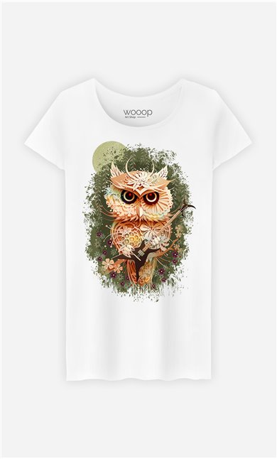 T-Shirt Blanc Femme Autumn Metal Festival
