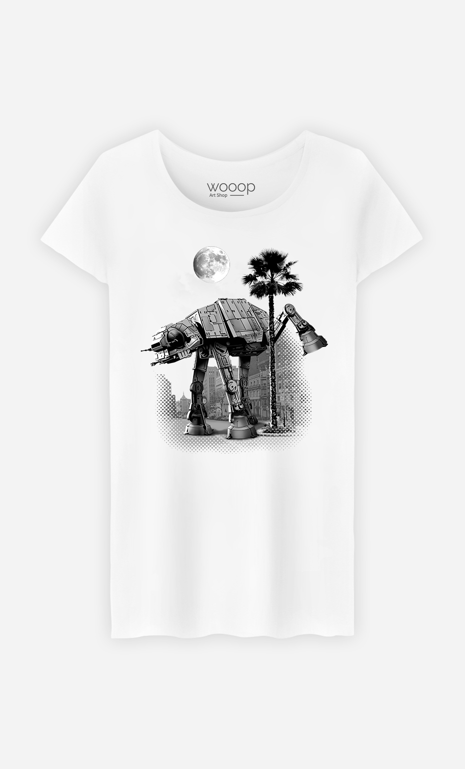 T-Shirt Blanc Femme Ata Pee Time