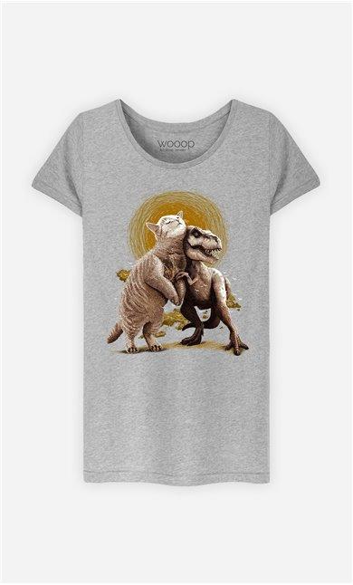 T-Shirt Gris Femme Tom et Scary