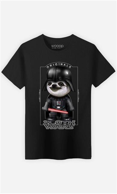 T-Shirt Noir Homme Sloth Wars