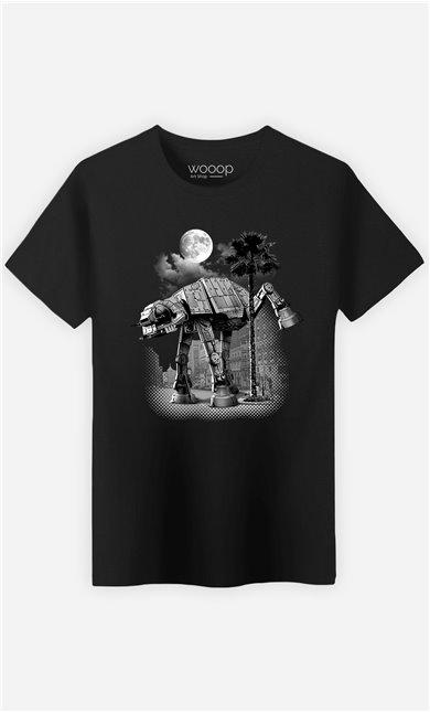 T-Shirt Noir Homme Ata Pee Time