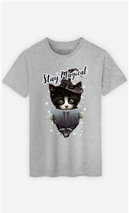 T-Shirt Gris Homme Stay magical