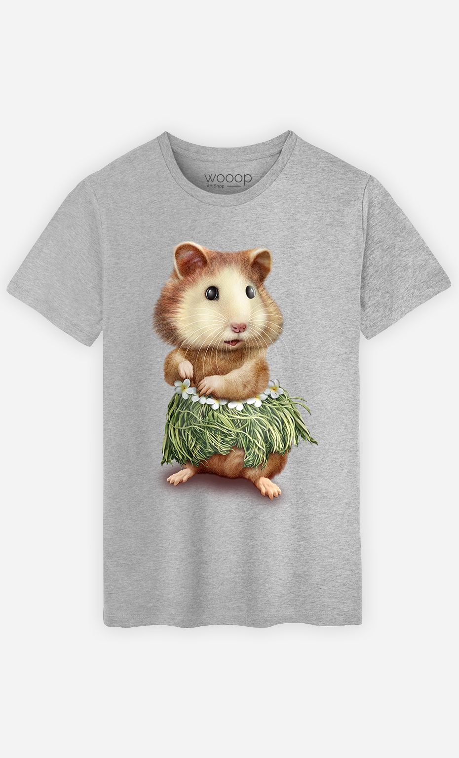 T-Shirt Gris Homme Hamster hula