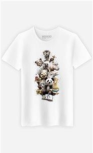 T-Shirt Blanc Homme Zoo escape
