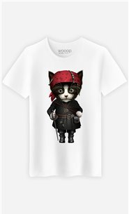 T-Shirt Blanc Homme Pirate cat