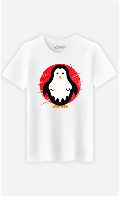 T-Shirt Blanc Homme Penguin ghost