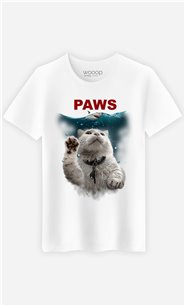 T-Shirt Blanc Homme Paws