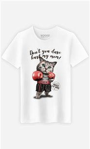 T-Shirt Blanc Homme Don't you dare hurt my mom
