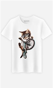 T-Shirt Blanc Homme BMX cat
