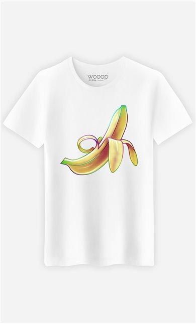 T-Shirt Blanc Homme Banana
