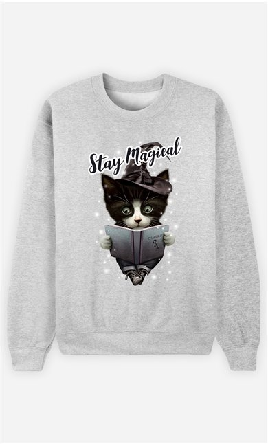 Sweat Gris Femme Stay magical