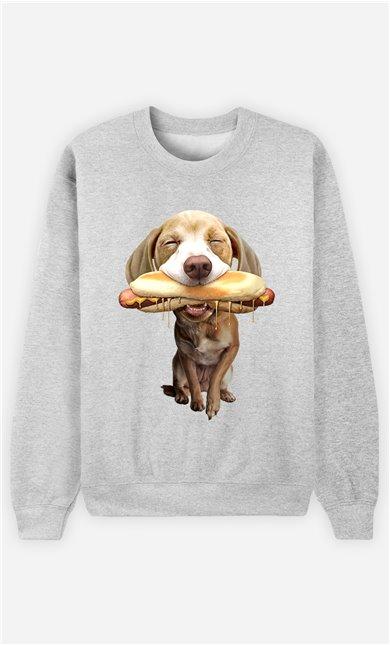 Sweat Gris Femme Hotdog