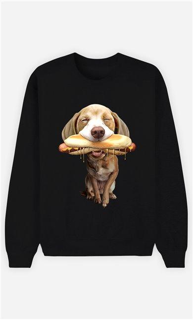 Sweat Noir Femme Hotdog
